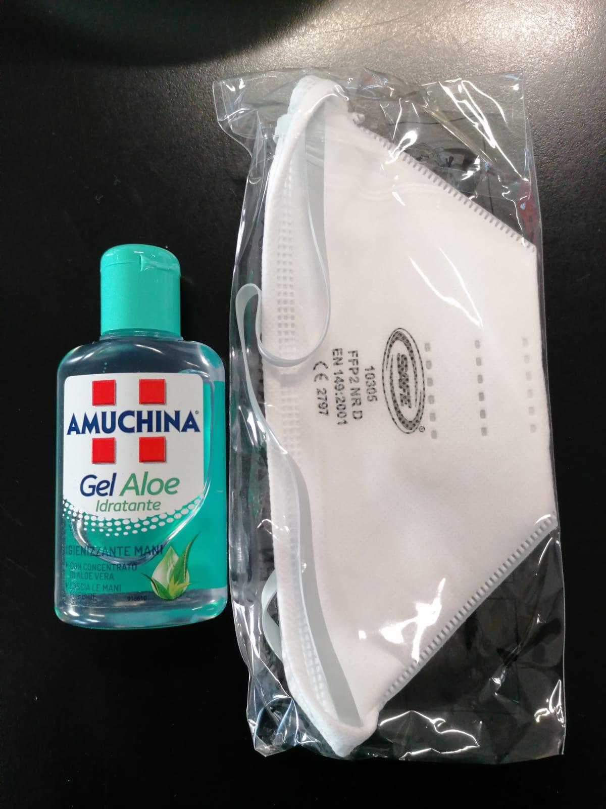 AMUCHINA GEL ALOE 80 ML + MASCHERINA FFP2