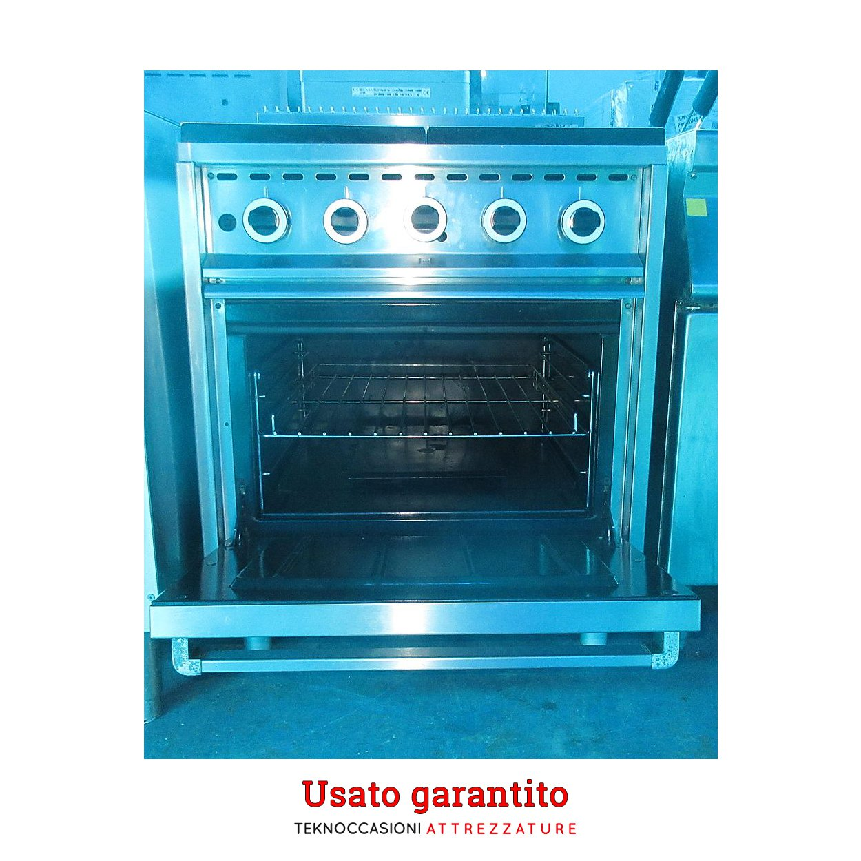 Cucina 4 fuochi a gas con Forno MBM