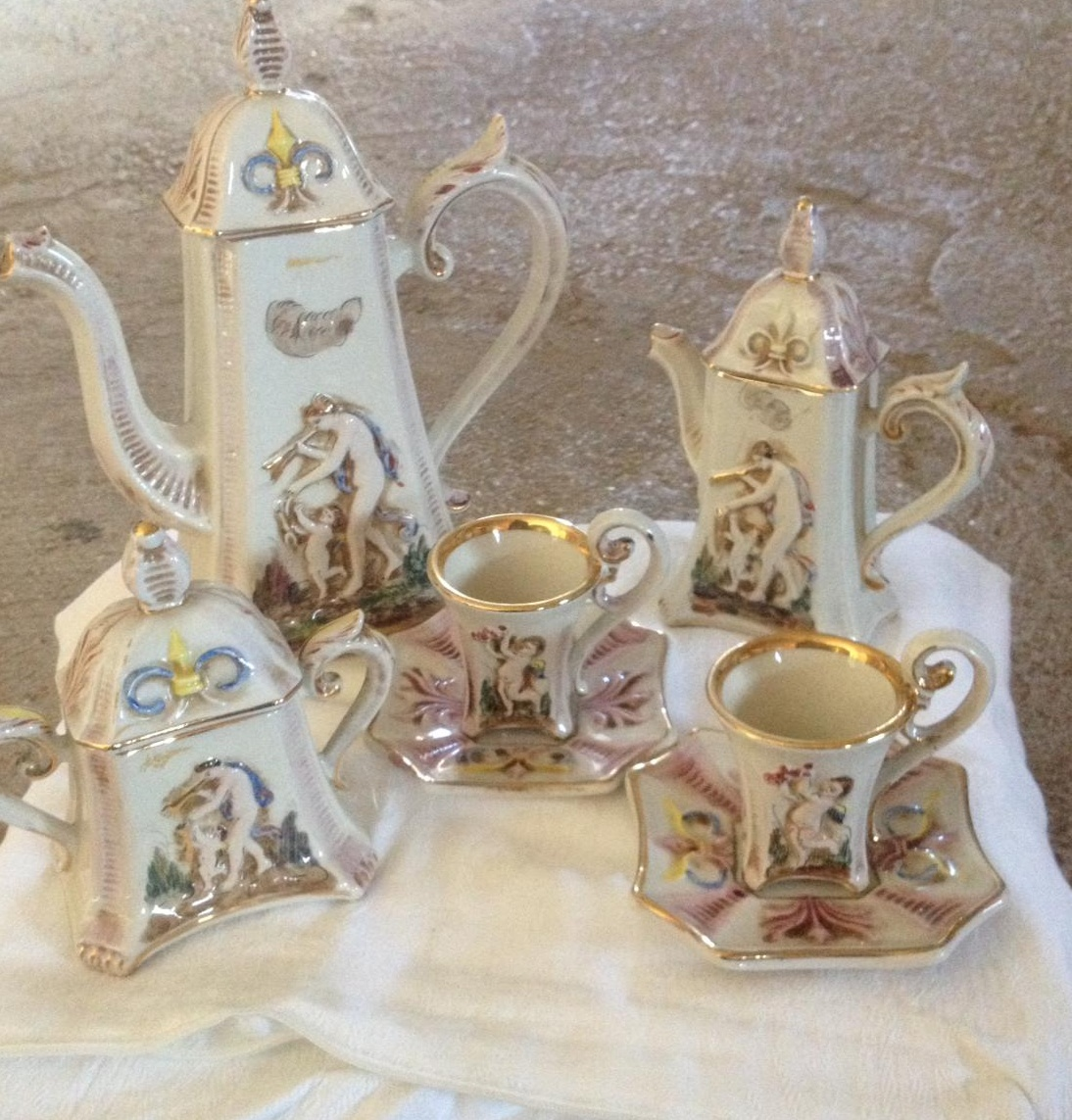 Servizio da  caffè da 6 originale Capodimonte