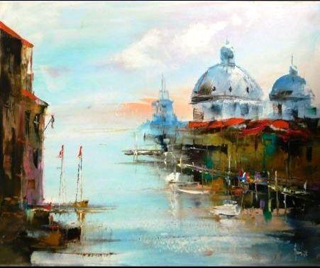Quadro a olio Venezia
