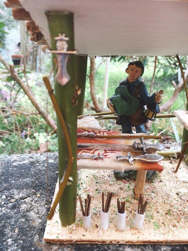 Presepe Bottega Artigiana Caccia e Pesca NMes09