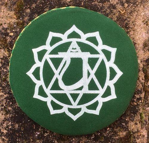 Cuscino Verde Campane Tibetane 17789/3