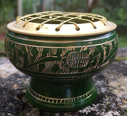 Bruciatore verde e oro cod. art. 16855