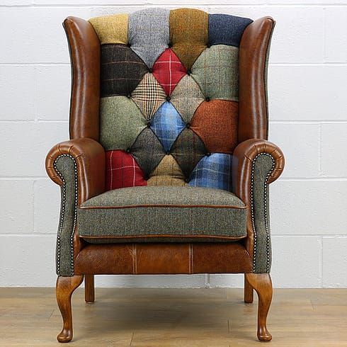 POLTRONA CHESTERFIELD PATCHWORK INGLESE