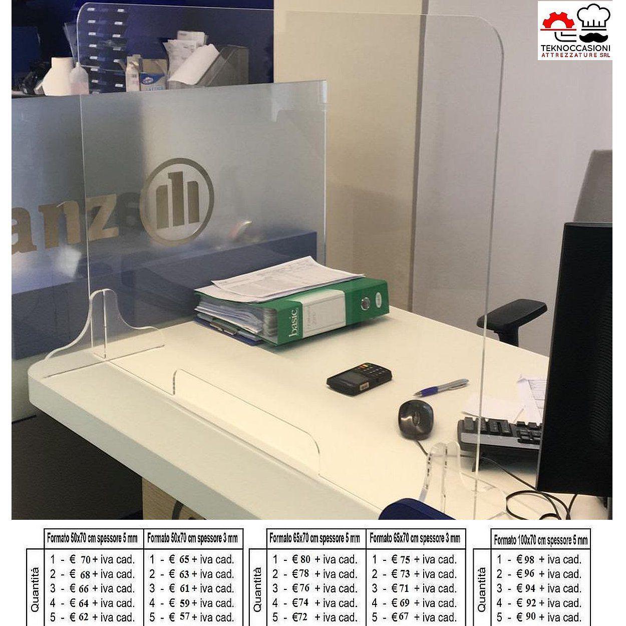 Pannello protettivo in plexiglass da 60x60x200