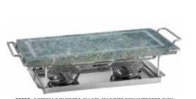 Fornello  pietra ollare 20x37 con base in acciaio
