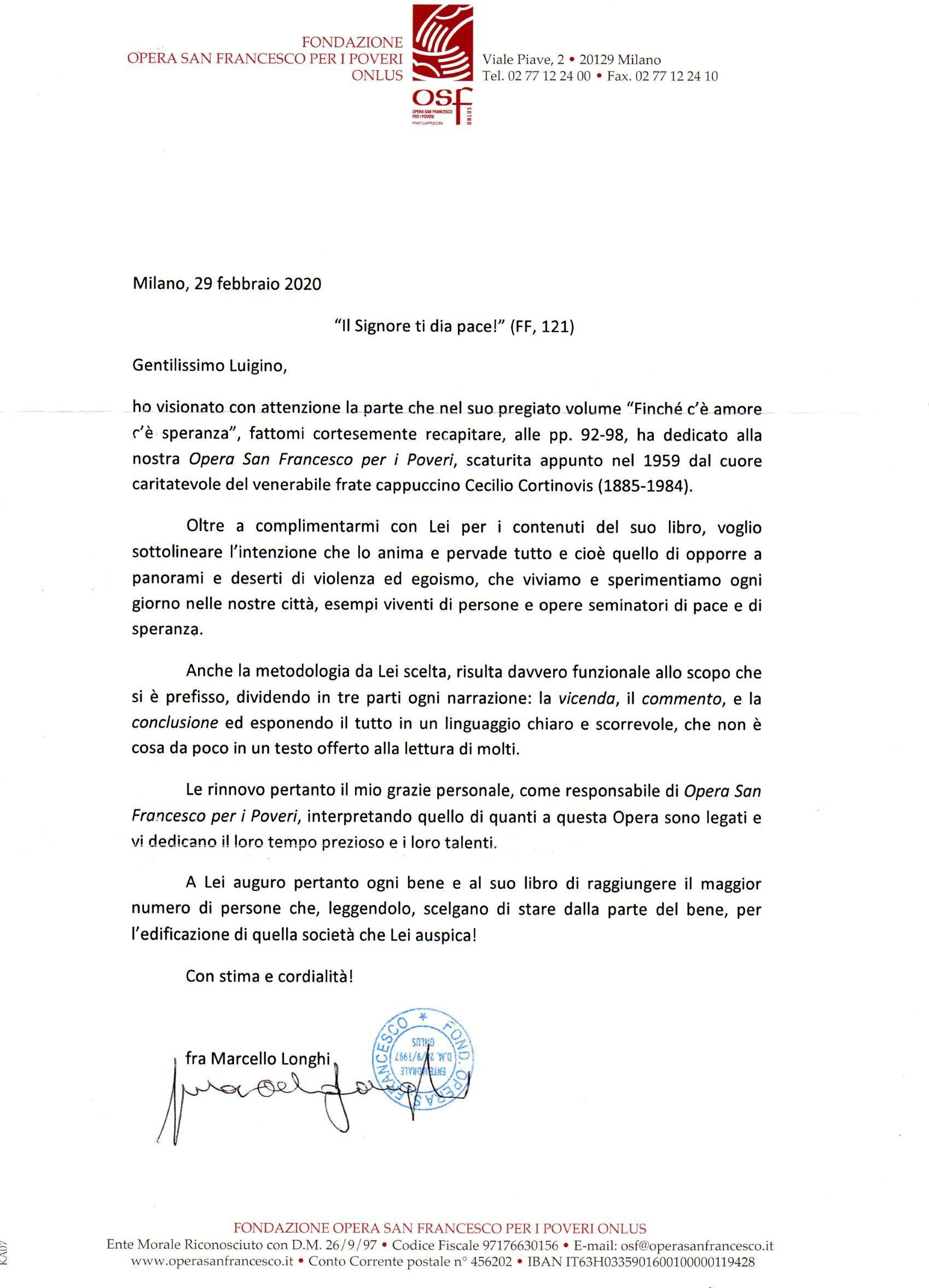 LA SPERANZA E' L'ANTICAMERA DELL'AMORE
