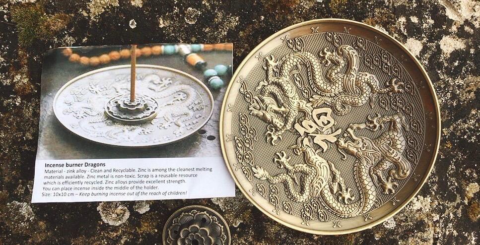 Bruciaincensi Draghi Bronzo cod. art. 15695