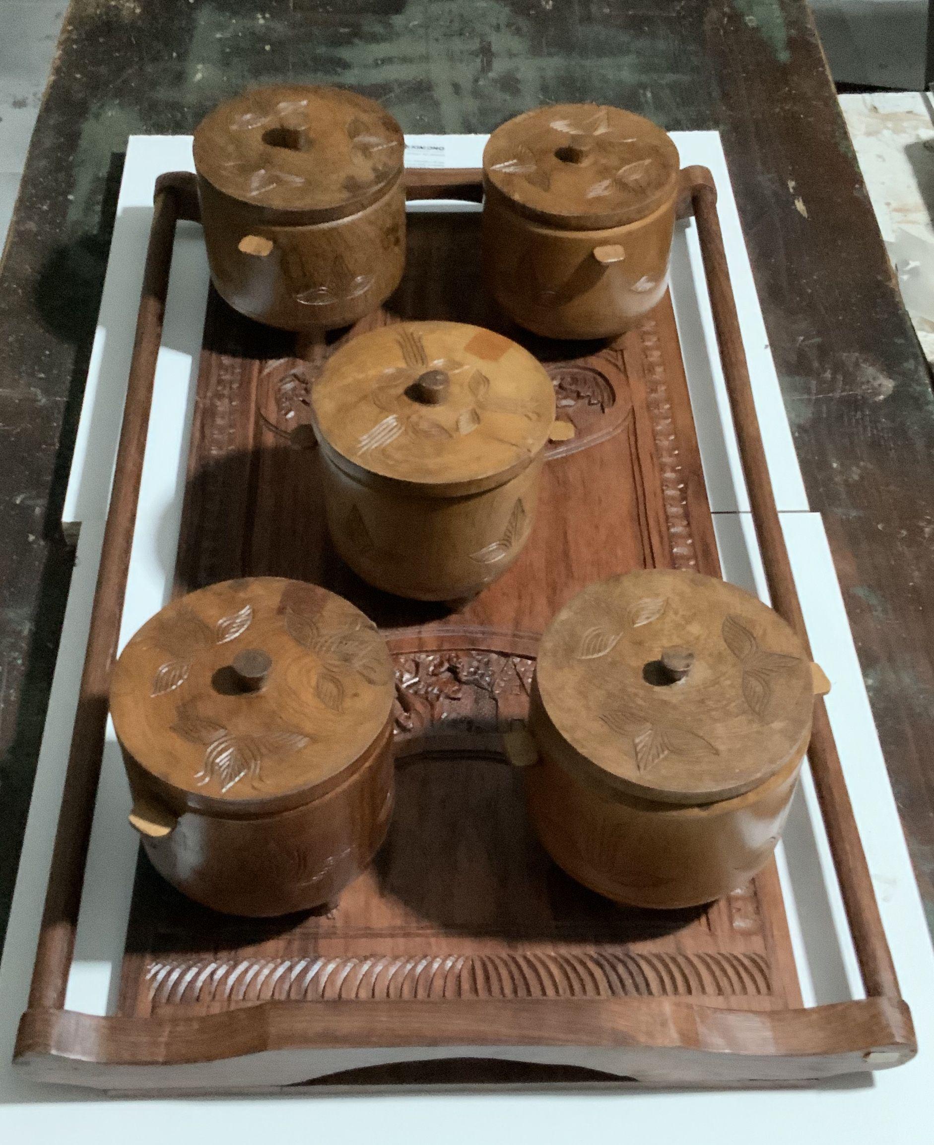 Quadri, in legno intarsiati a mano del Madagascar