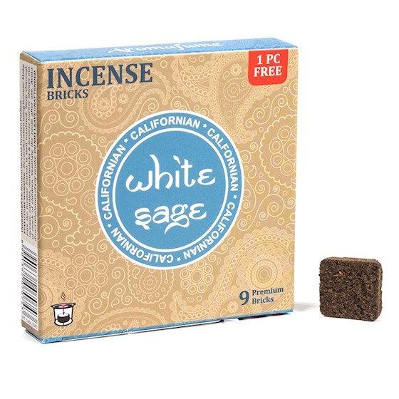 Incenso in Mattoncini White Sage