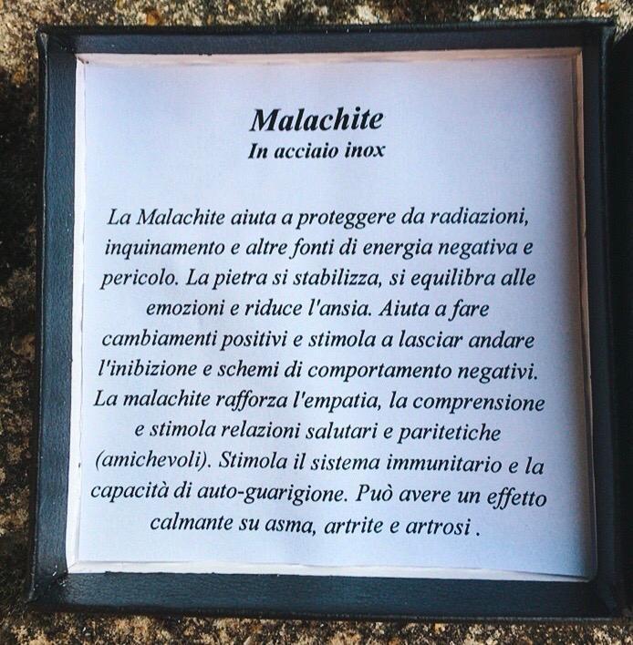 Braccialetto in Malachite