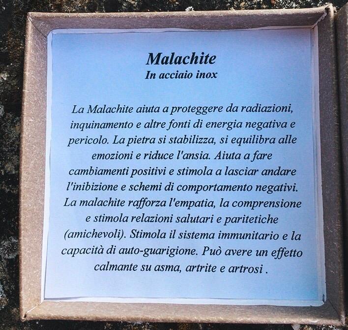 Braccialetto in Malachite  BMal02