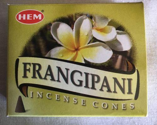Incenso Coni frangipani Hem27