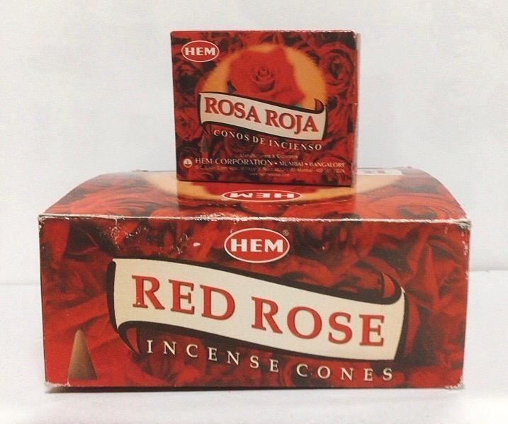 Incenso Coni Rosa Rossa Hem33