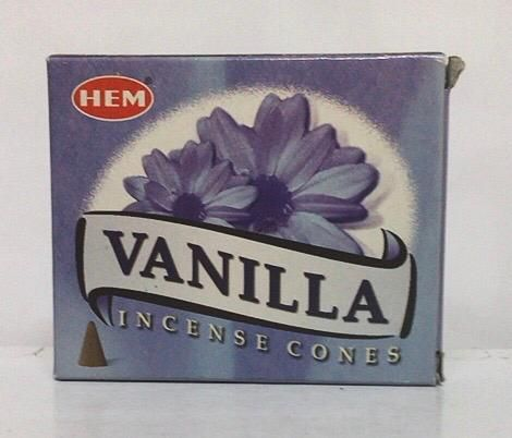 Incenso Coni Vaniglia Hem34