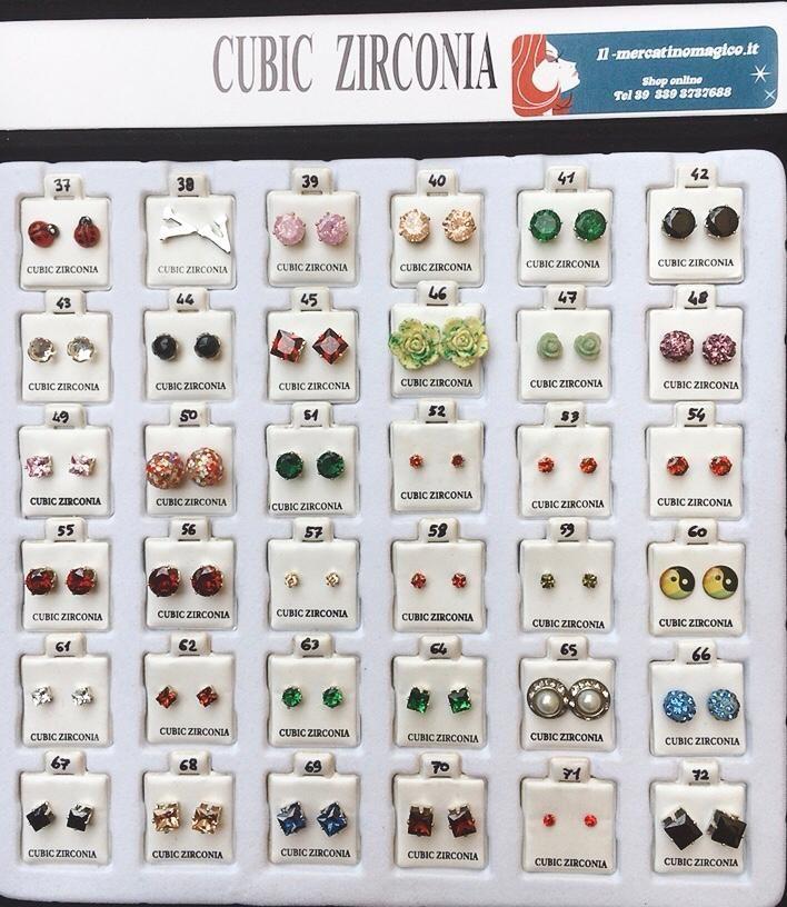 Orecchini Zirconia CZ37/72