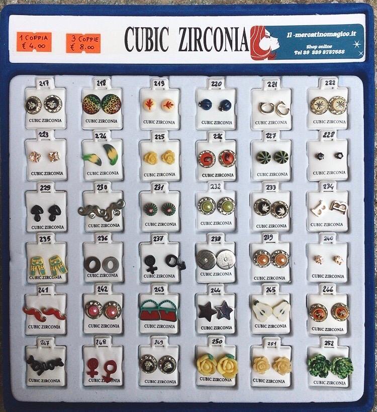 Orecchini Zirconia CZ217/252