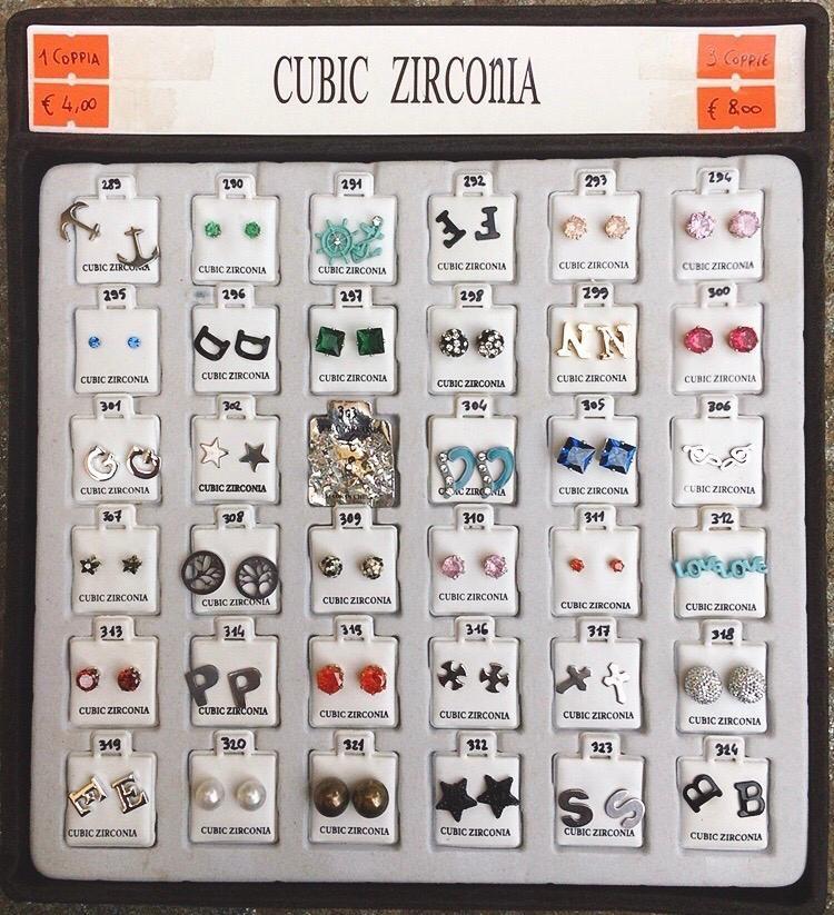 Orecchini Zirconia CZ289/324