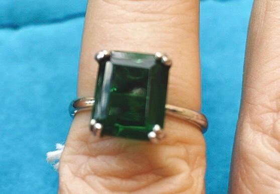 Anello Argento 925 Zircone Verde AAr46