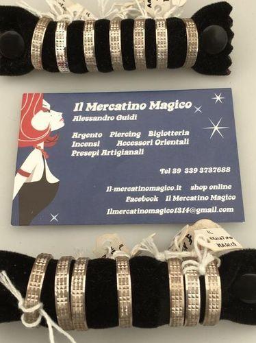 Anello Argento 925 Fascetta Quadrettata AAr41