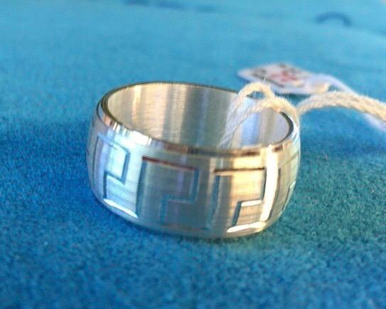 Anello Argento 925 Fascia con Greca AAr35