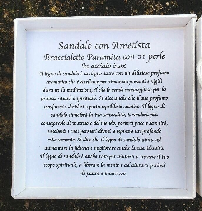 Braccialetto Ametista Sandalo BSA01