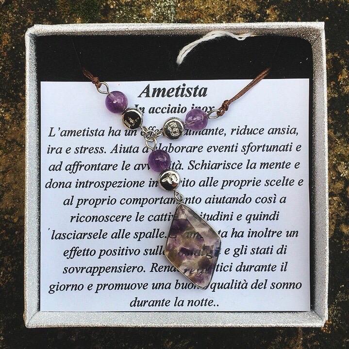 Collana Ametista CAme07