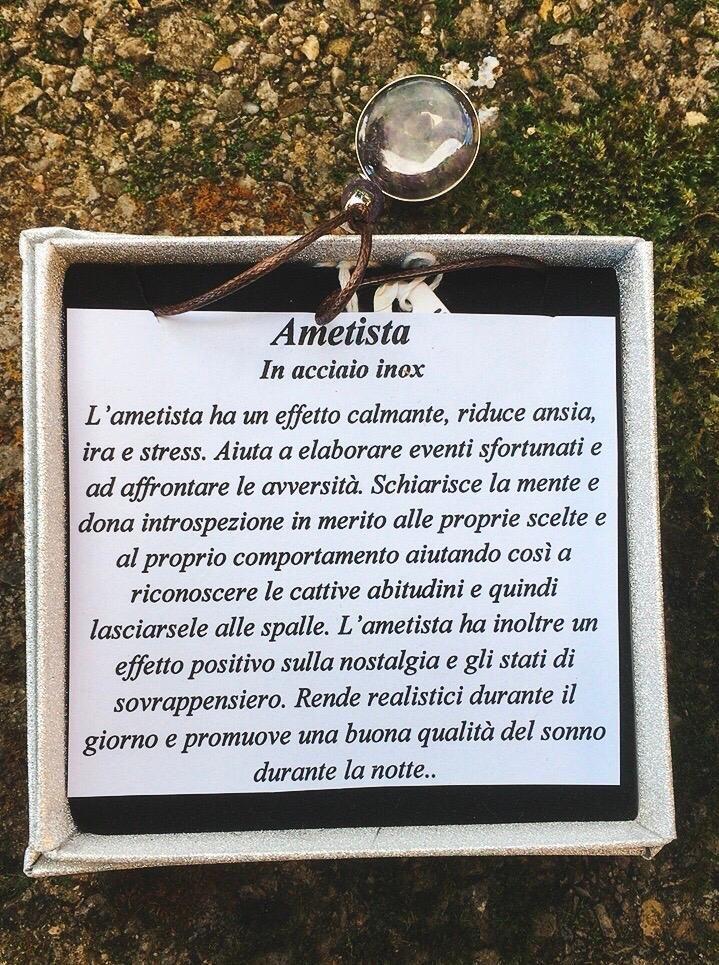 Collana Ametista Cerchio CAme09
