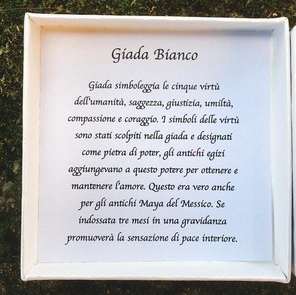 Braccialetto Giada Bianca BGi18