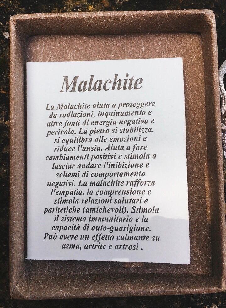 Braccialetto in Malachite BMal11