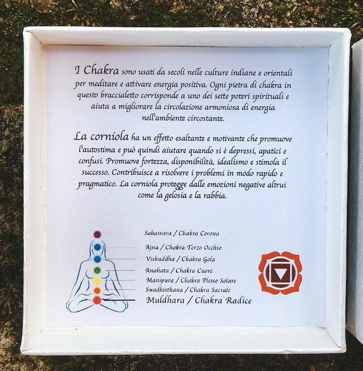Braccialetto Corniola 7 Chakra Radice BCor20