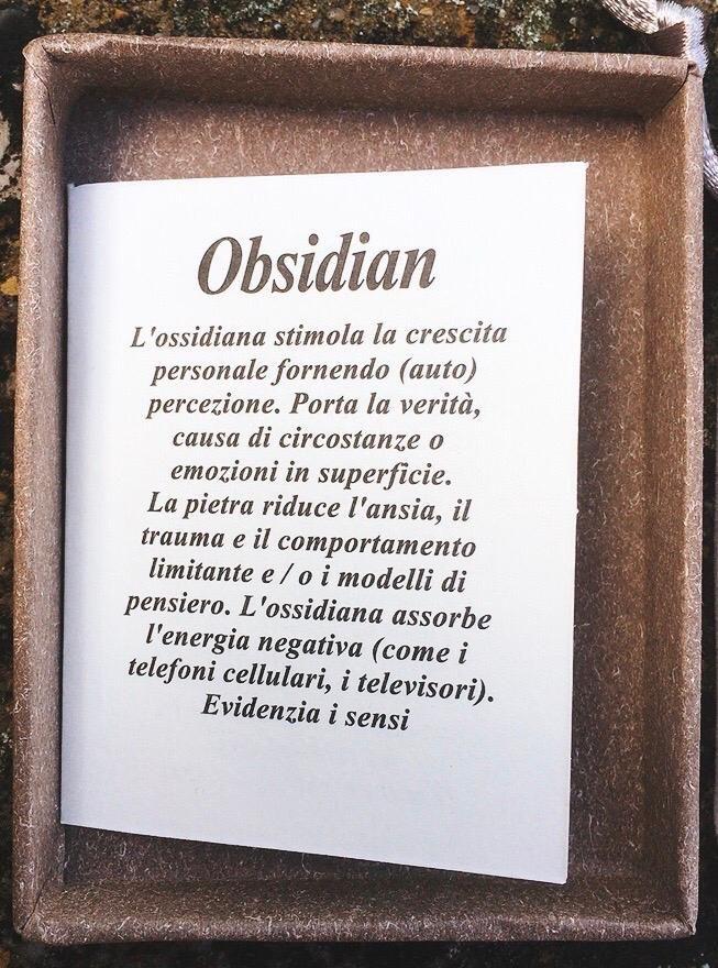 Braccialetto in Ossidiana BOs19