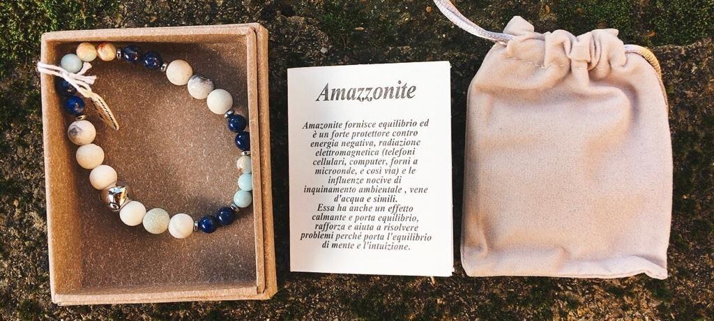 Braccialetto Amazzonite e Lapislazzuli BAma16
