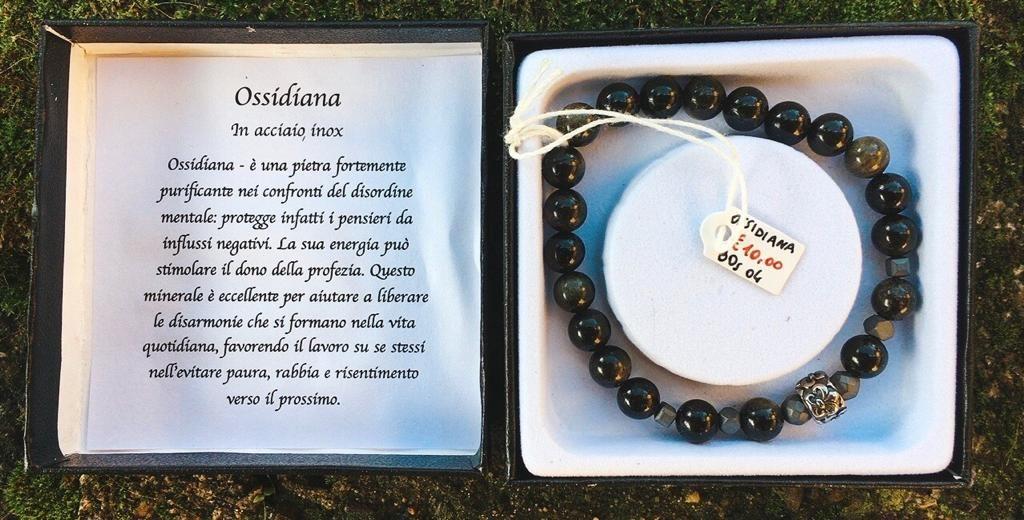 Braccialetto Ossidiana BOs04