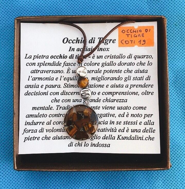 Collana Ciondolo Occhio di Tigre COTi19