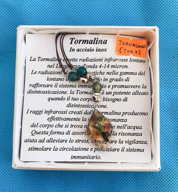 Collana Ciondolo Tormalina CTor02