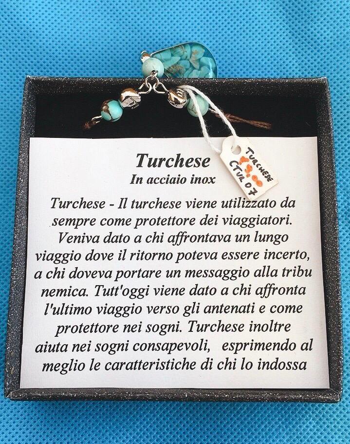 Collana Ciondolo Turchese CTur07