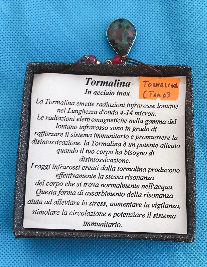 Collana Ciondolo Tormalina CTor03