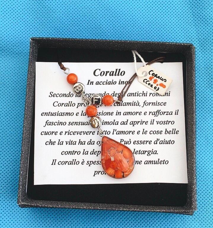 Collana Ciondolo Corallo Bamboo CCor03