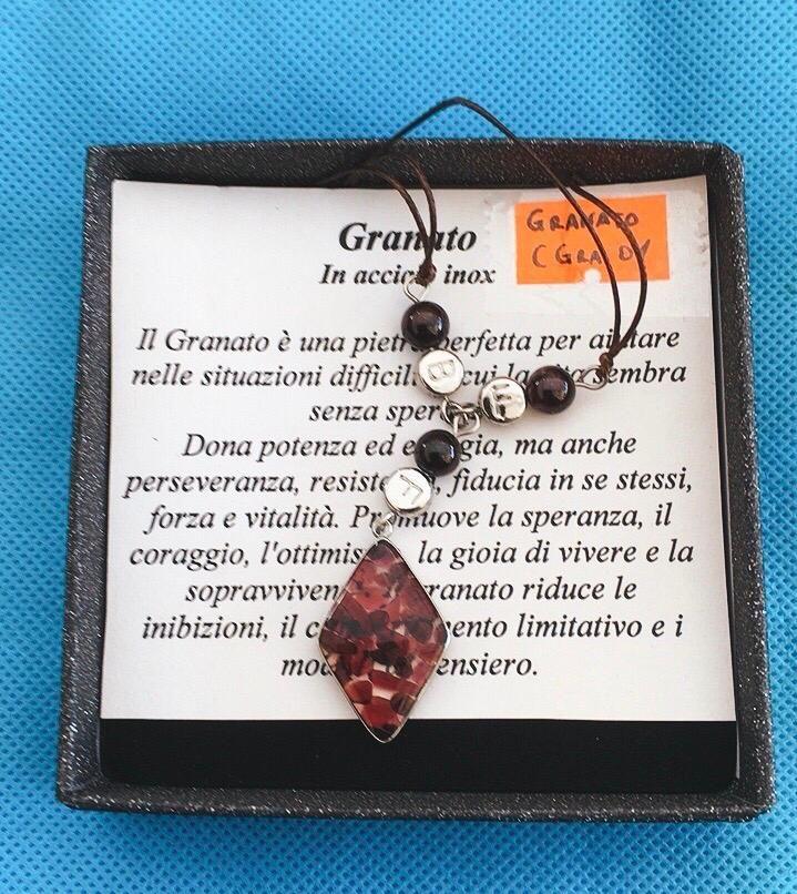 Collana Ciondolo Granato CGra01