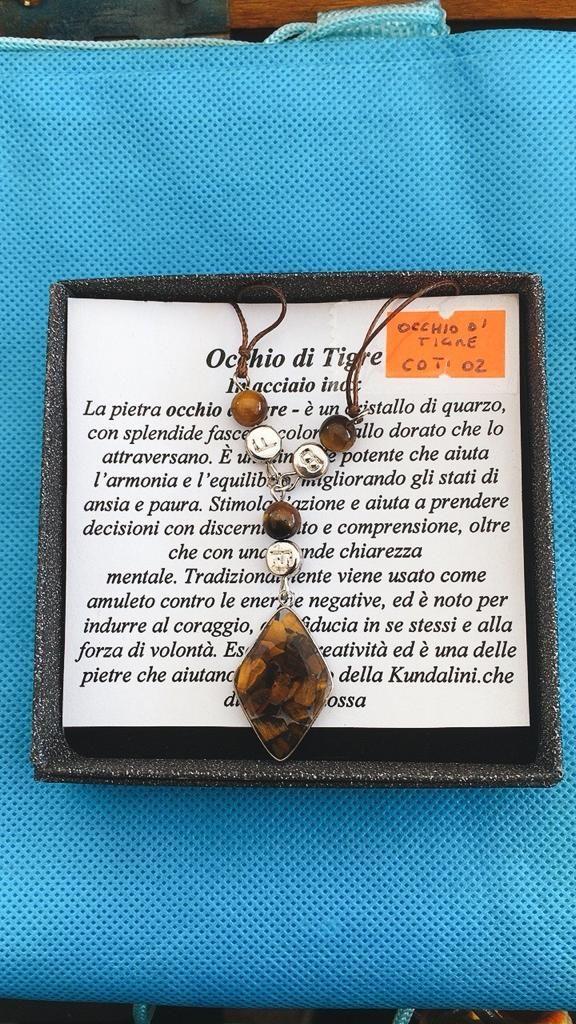 Collana Ciondolo Occhio di Tigre COTi02
