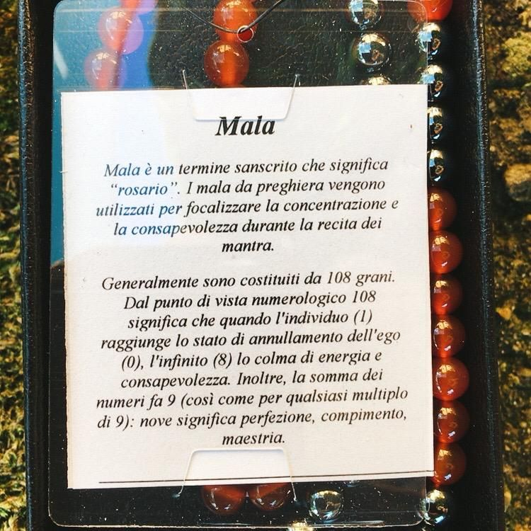 Collana Mala Agata Rossa CAga08