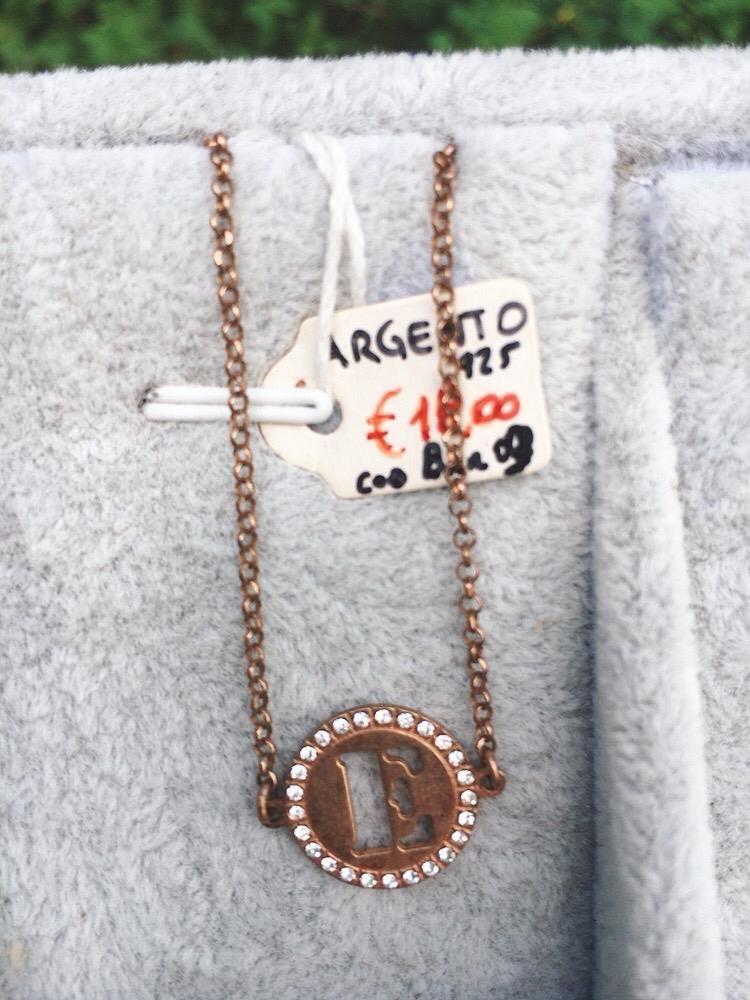 Braccialetto Argento 925 Lettera E BAr09