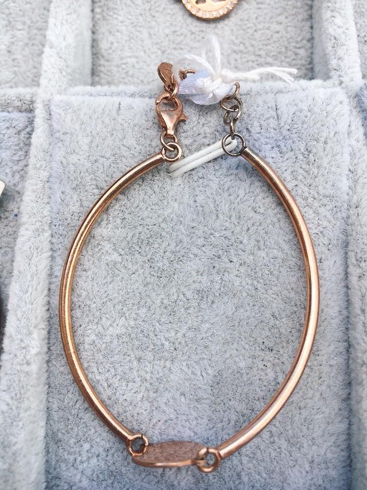Braccialetto Argento 925 Semicerchi BAr16