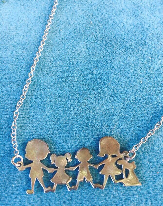 Collana Argento 925 Famiglia CAr12