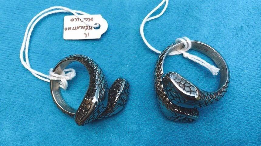 Anello Acciaio serpente 2 Teste Ane41