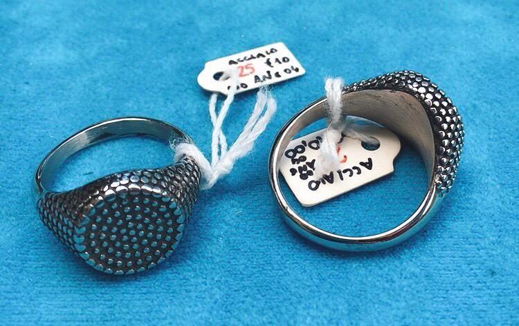 Anello Acciaio Micropalline Cerchio Ane04