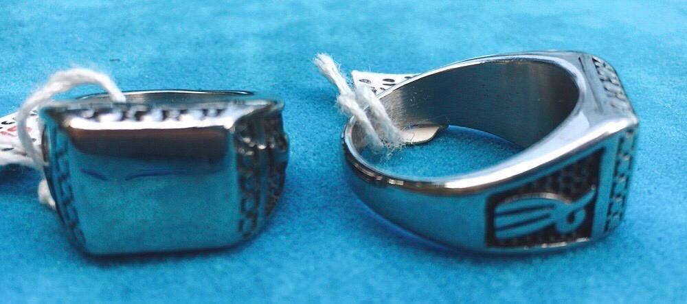 Anello Acciaio Liscio Rettangolare Ane12