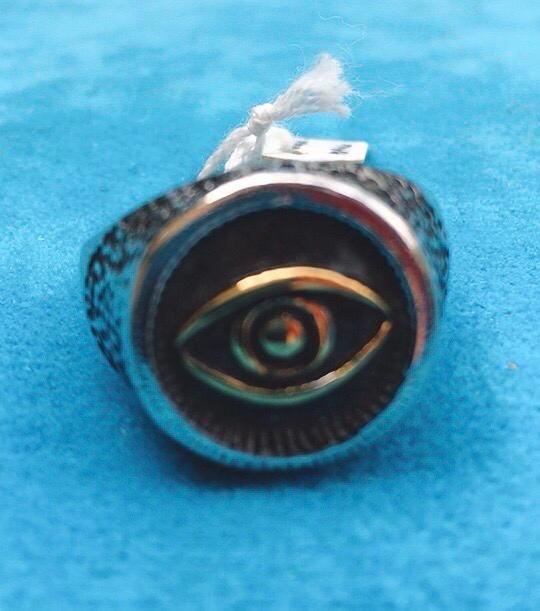 Anello Acciaio Occhio di Orus Ane32