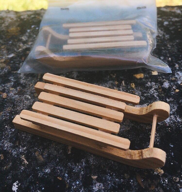 Mini Slitta Legno NAdd236